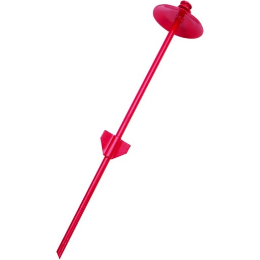 Coastal Titan Dog Tie Out Stakes For Hard Soil-Dome-Red , 20-in