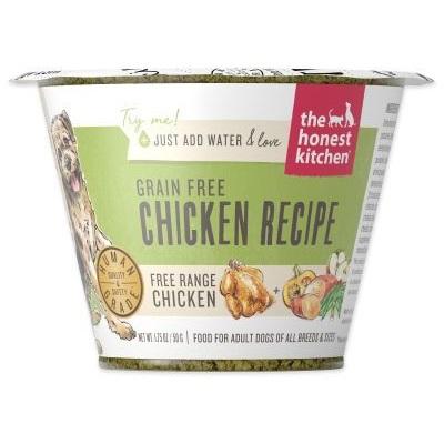 Honest Kitchen Grain Free Chicken Recipe Dehydrated Dog Food Cup, 1.75-oz