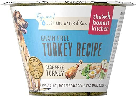 The Honest Kitchen Turkey Recipe Grain-Free Dehydrated Dog Food, 1.75-oz cup, case of 12