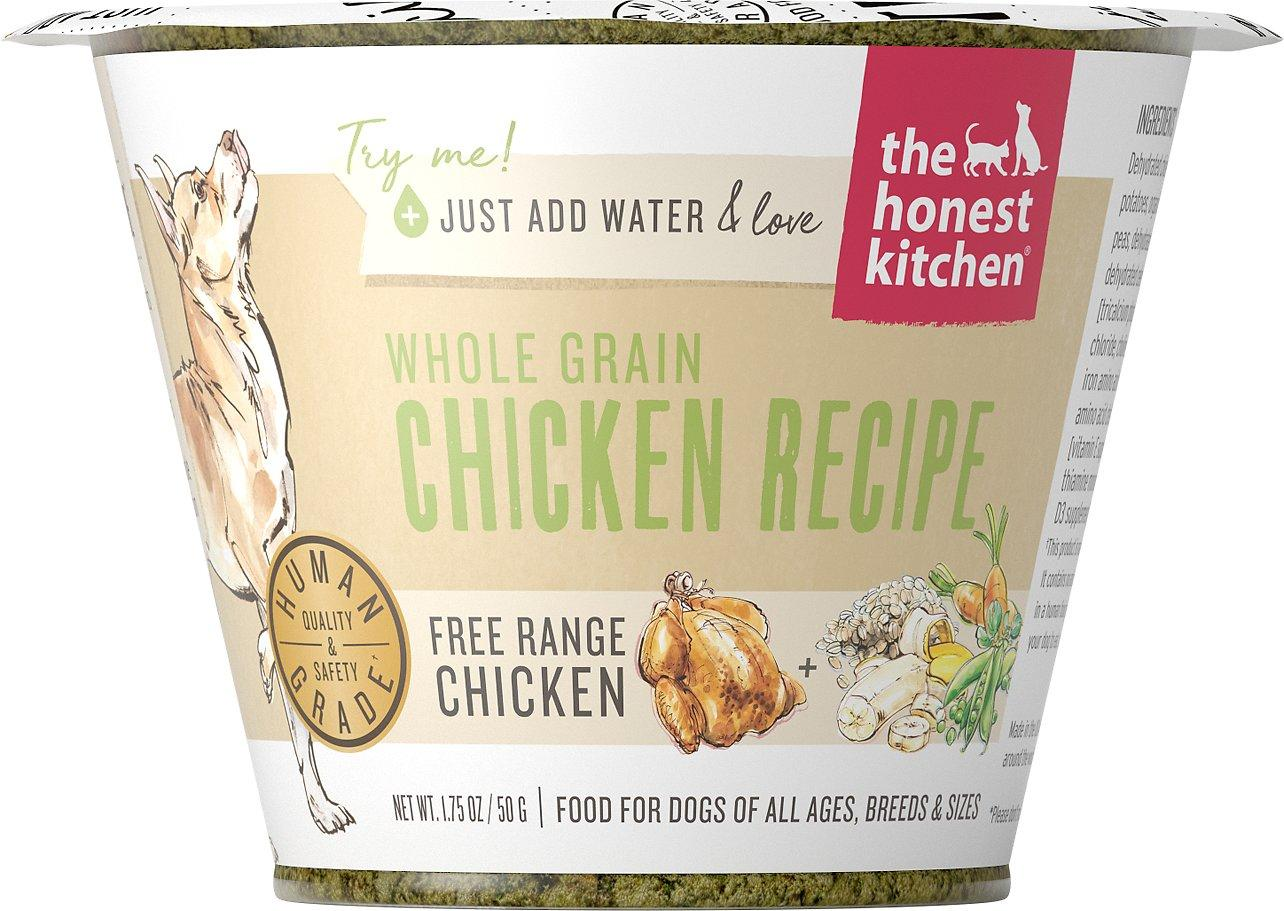 The Honest Kitchen Whole Grain Chicken Recipe Dehydrated Dog Food, 1.75-oz cup