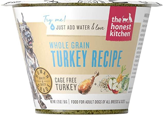 The Honest Kitchen Whole Grain Turkey Recipe Dehydrated Dog Food, 1.75-oz cup