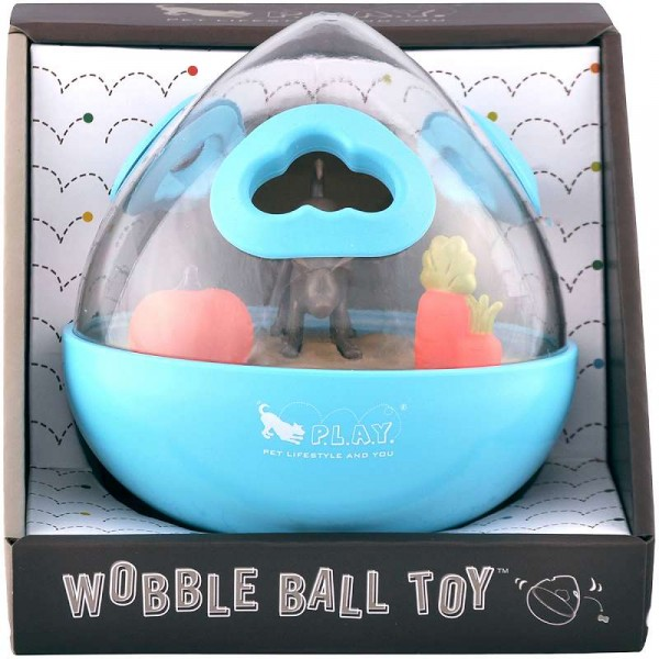 P.L.A.Y. Dog Toys Ball Wobble 2.0 Interactive - Blue