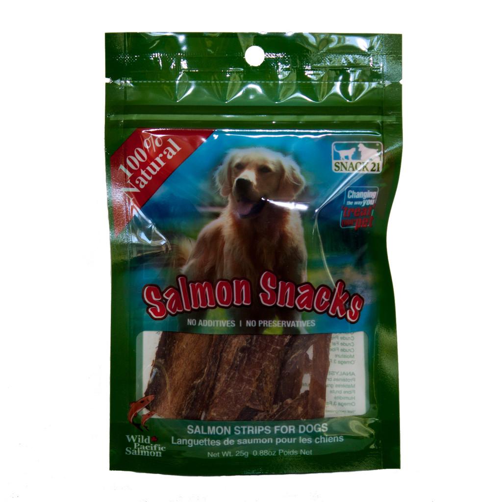 Snack 21 Salmon Snacks for Dogs, 0.88-oz (Size: 0.88-oz) Image