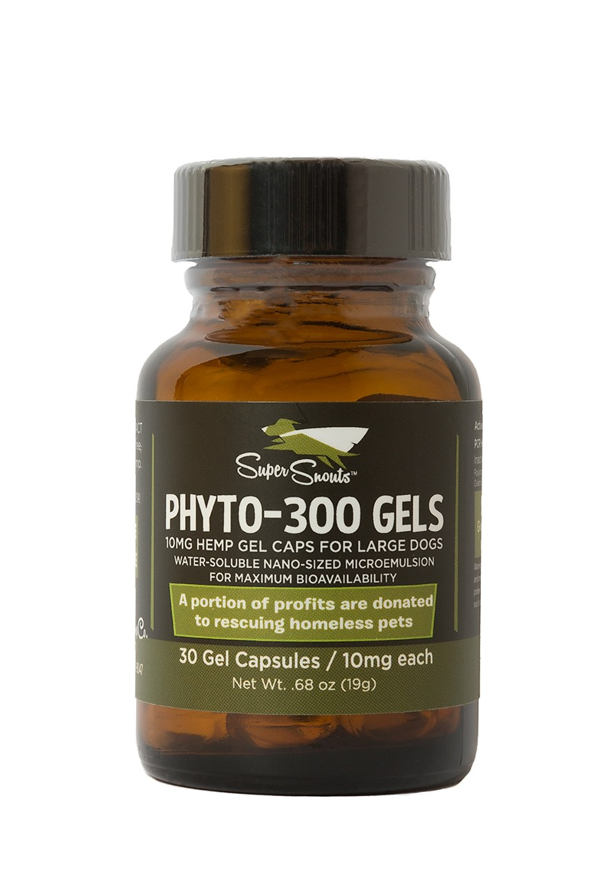 Super Snouts PHYTO 300-mg GELS Raw USA Organic Full Spectrum Oil Gel Caps for Dogs, 30-Count