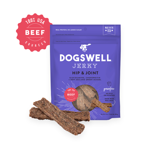 Dogswell Jerky Grain-Free Hip & Joint Beef Treat, 10-oz