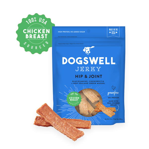 Dogswell Jerky Grain-Free Hip & Joint Chicken Treat Image