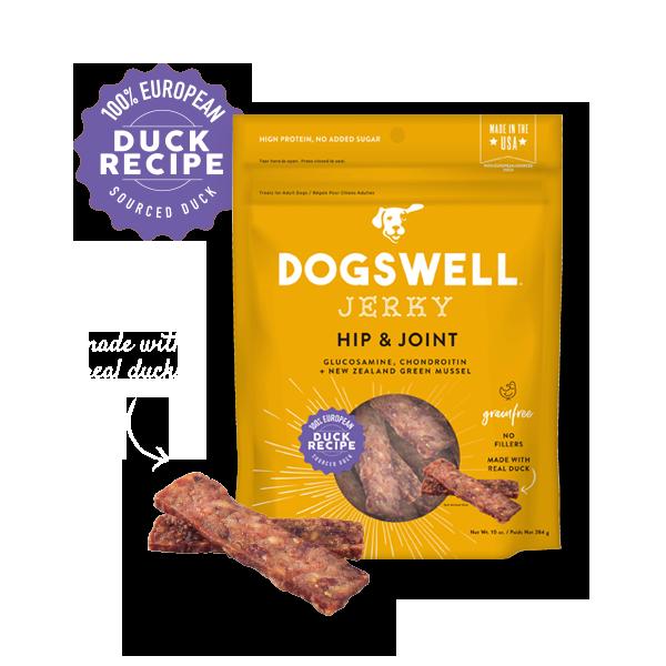 Dogswell Jerky Grain-Free Hip & Joint Duck Treat, 10-oz