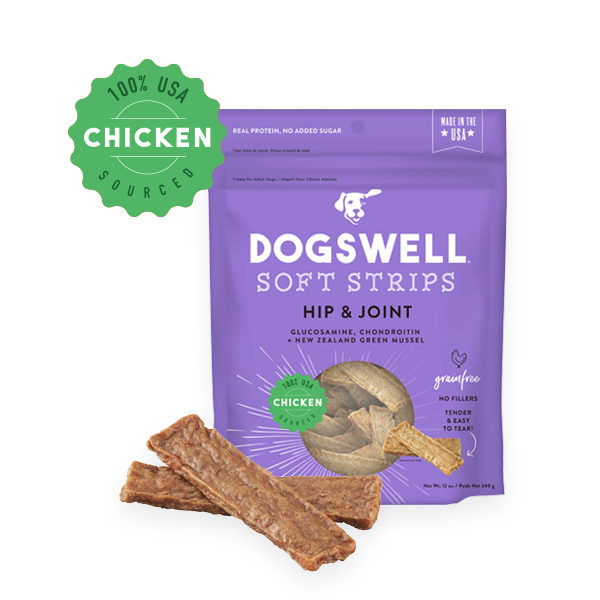 Dogswell Soft Strips Grain-Free Hip & Joint Chicken Treat, 12-oz