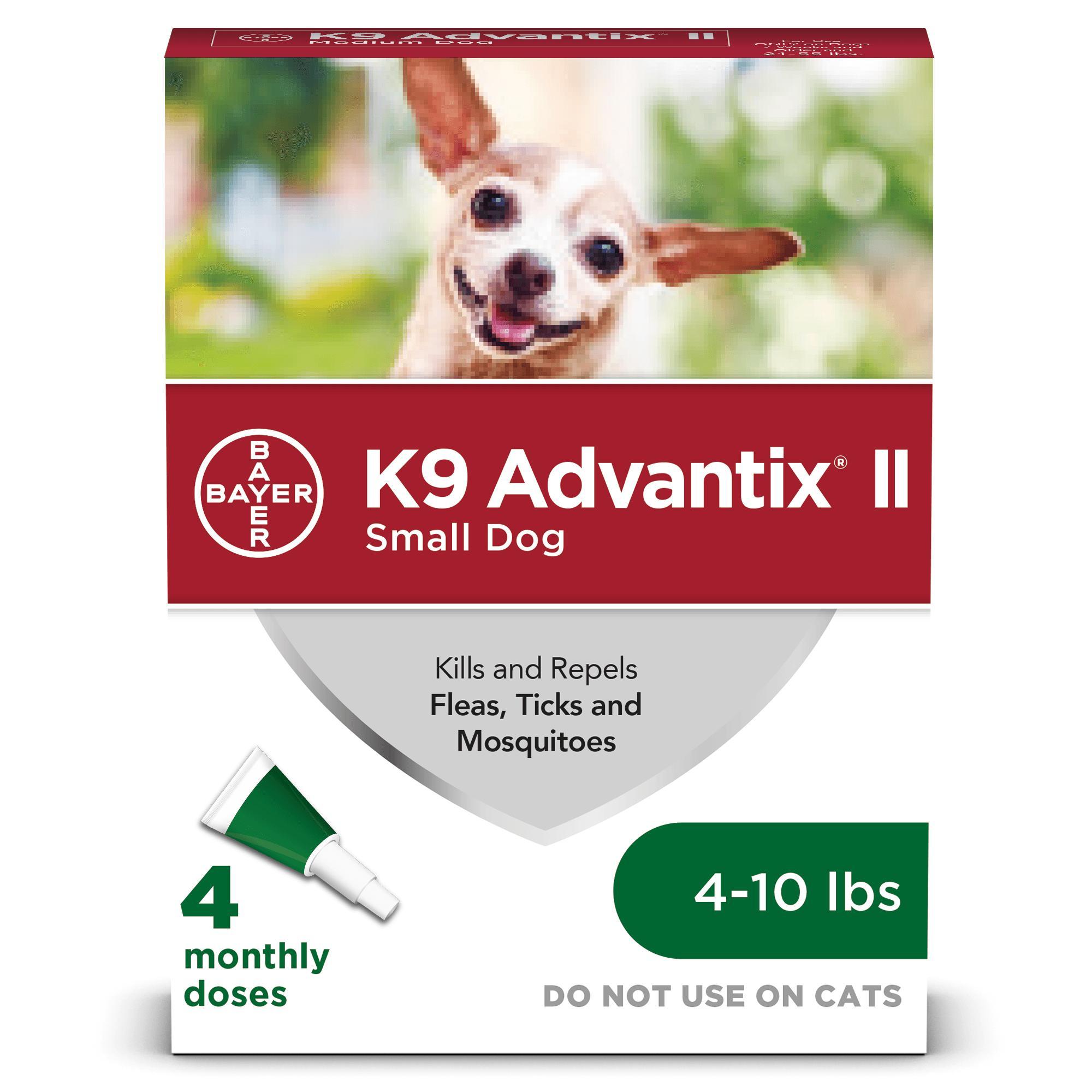 K9 Advantix II Flea & Tick Treatment for Small Dogs up to 4-10 lbs, 4-pack