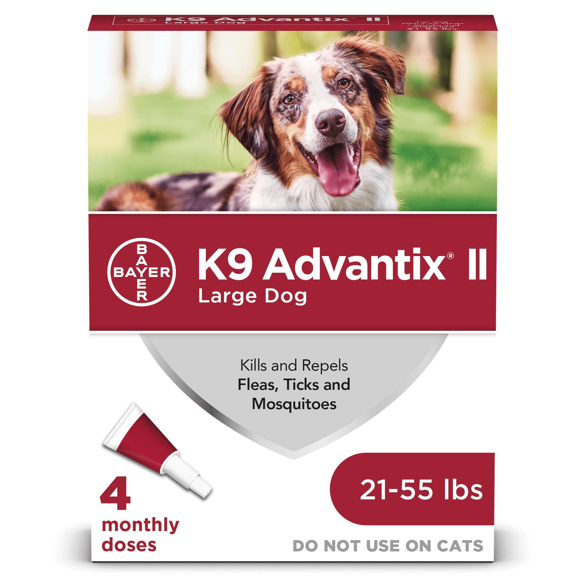 K9 Advantix II Flea & Tick Treatment for Large Dogs 21-55-lb, 4-pack