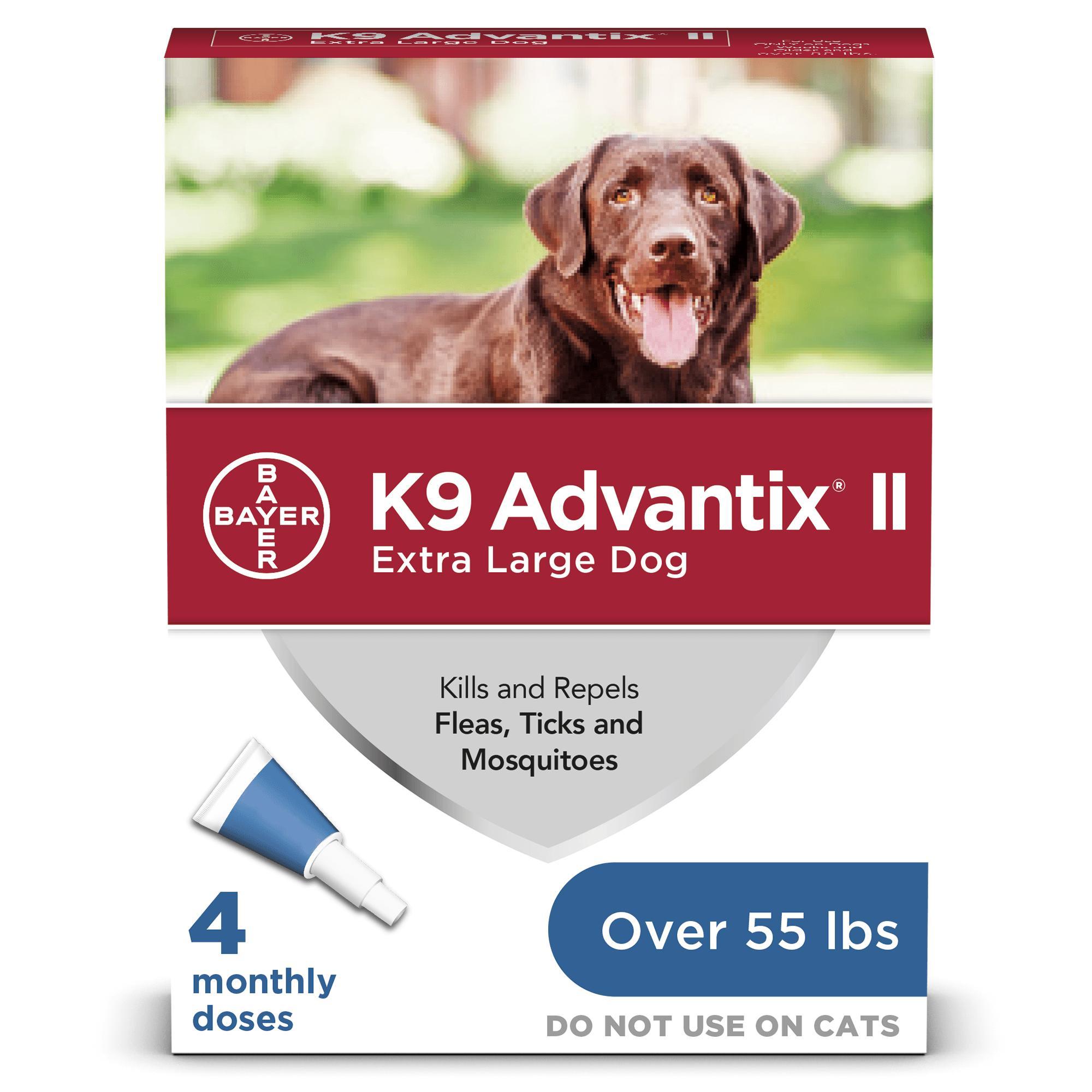 K9 Advantix II Flea & Tick Treatment for Extra Large Dogs Over 55-lbs, 4-pack