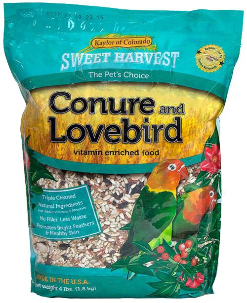 Kaylor Sweet Harvest Enriched Conure & Lovebird Bird Food, 2-lb