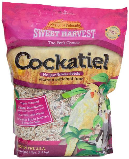 Kaylor Sweet Harvest Enriched Cockatiel w/o Sunflower Seeds Food, 4-lb