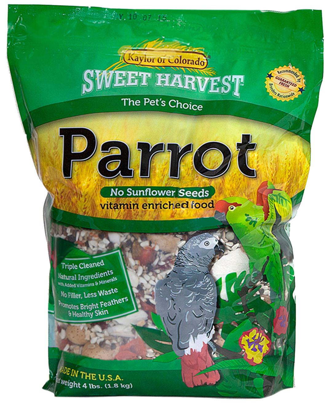 Kaylor Sweet Harvest Enriched Parrot w/o Sunflower Seeds Food, 2-lb