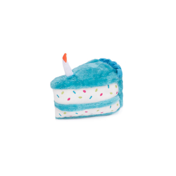 ZippyPaws Birthday Cake Plush Dog Toy, Blue Image
