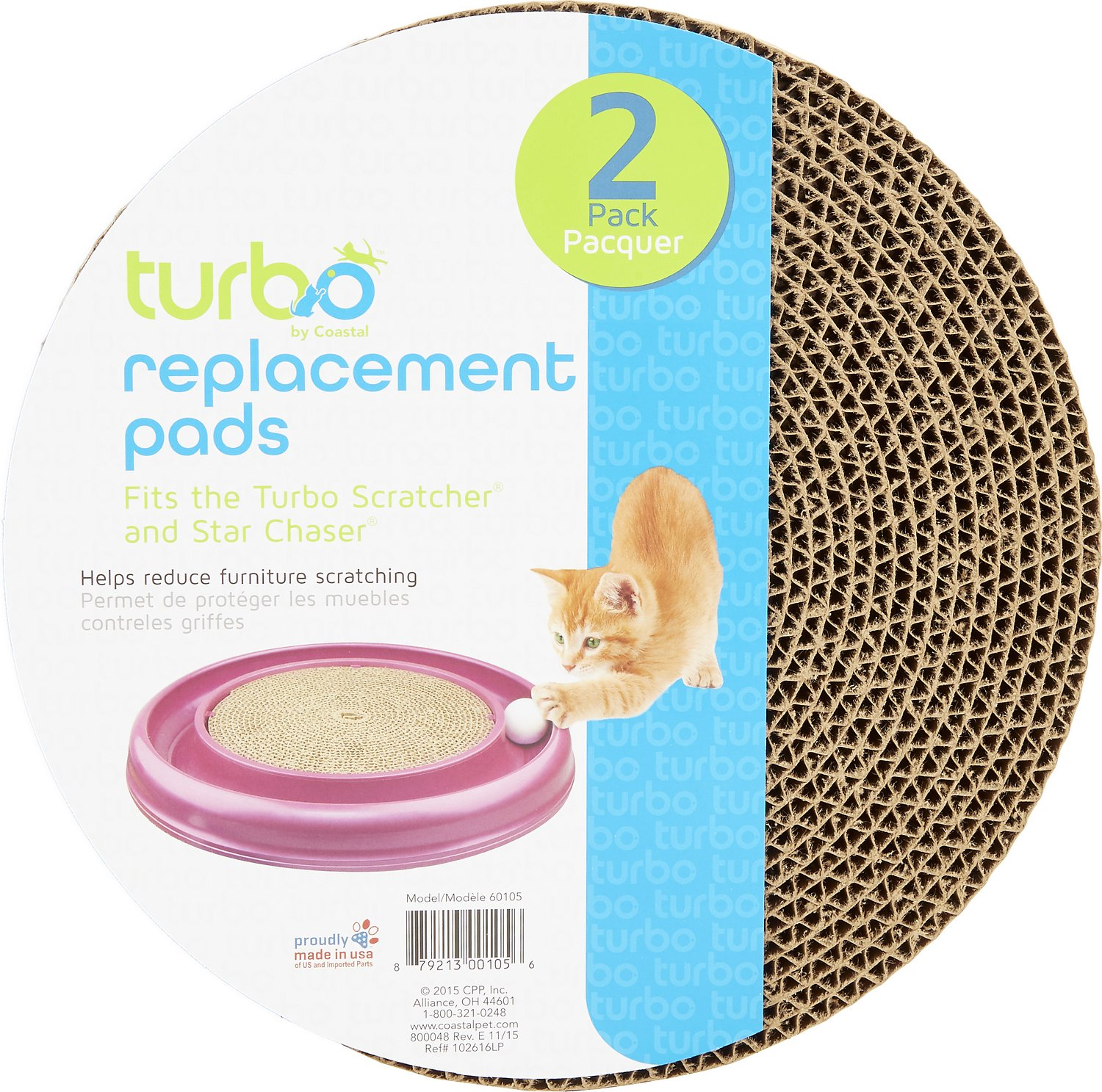 Turbo Scratcher Cat Toy Replacement Pads Image