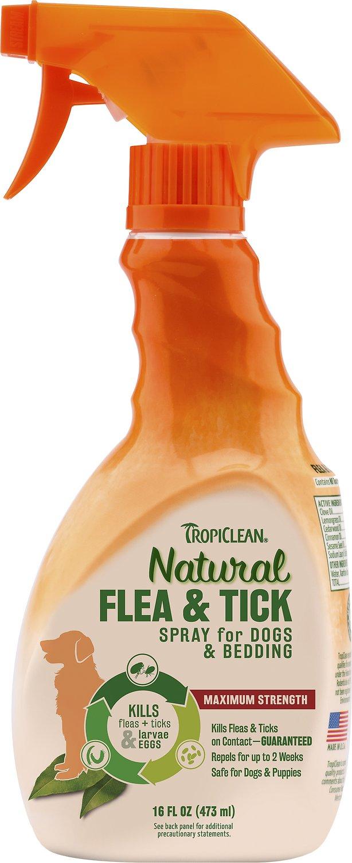 TropiClean Natural Flea & Tick Spray for Dogs & Bedding, 16-oz bottle