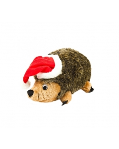 Outward Hound Holiday Hedgehogz with Santa Hat Dog Toy, Medium