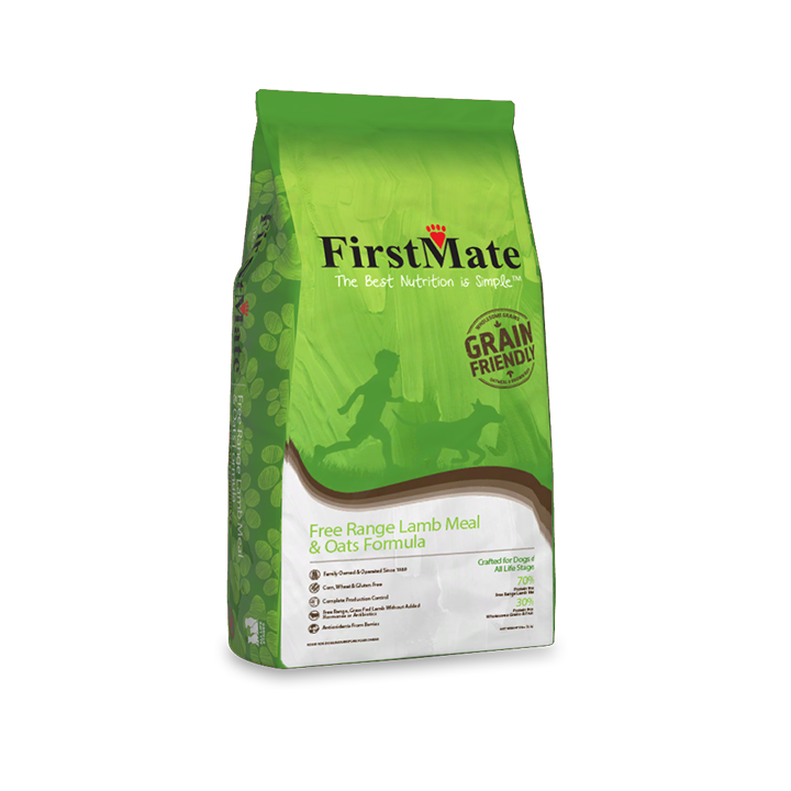 FirstMate Free Range Lamb and Oats Grain Friendly Dog Food, 5-lb