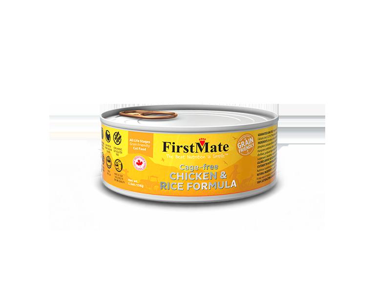 FirstMate Grain Friendly Chicken & Rice Wet Cat Food, 5.5-oz