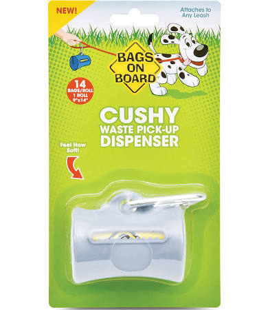 Bags On Board Cushy Dispenser Gray, 14 Bags Image