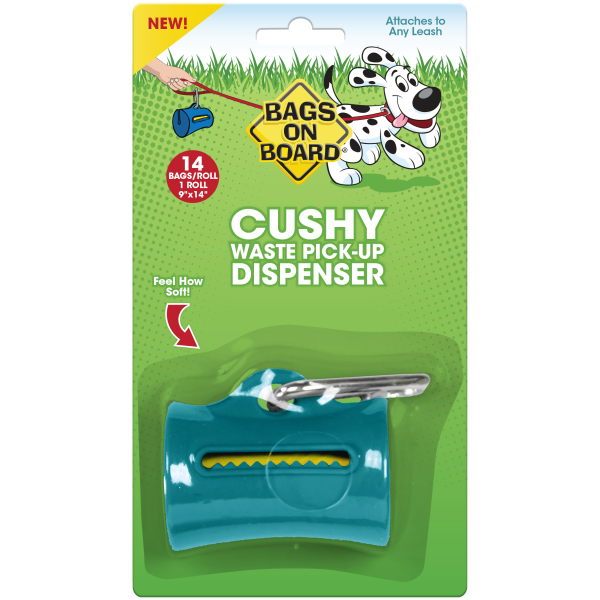 Bags On Board Cushy Dispenser Teal, 14 Bags Image
