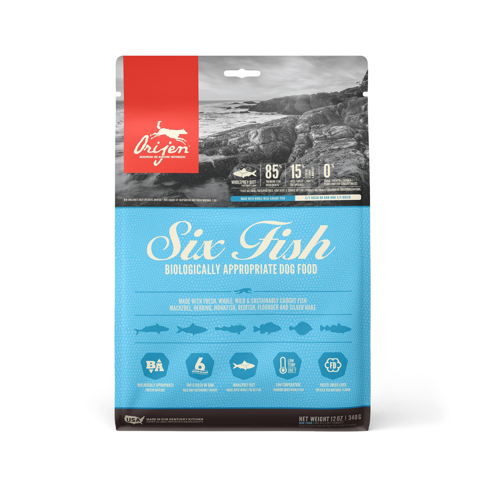 ORIJEN Six Fish Grain-Free Dry Dog Food, 12-oz