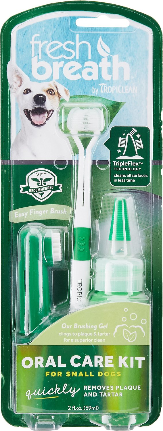 TropiClean Fresh Breath Oral Care Toothbrush Kit Image