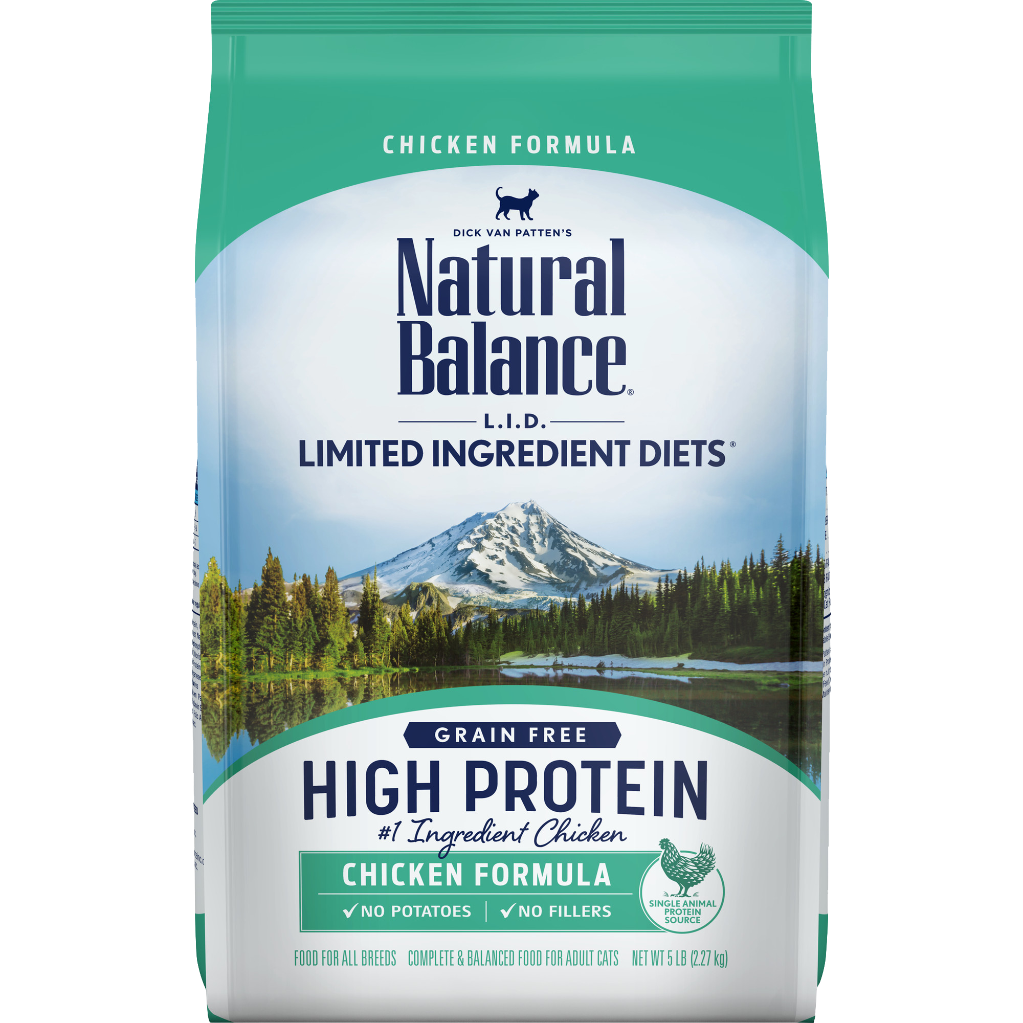 Natural Balance L.I.D. High Protein Chicken Formula Cat Dry Food, 11-lb