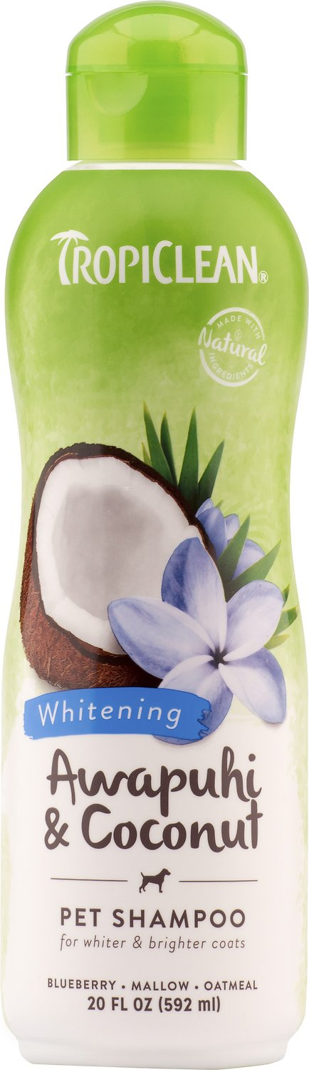 TropiClean Whitening Awapuhi & Coconut Shampoo, 20-oz bottle