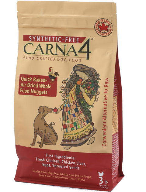 Carna4 Airdried Quick Baked Chicken Dog Food, 13-lb