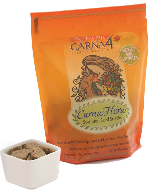 Carna4 Flora Sprouted Seed GF Dog Snacks, 16-oz