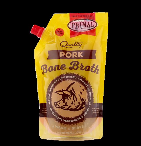 Primal Frozen Pork Bone Broth for Dogs & Cats, 20-oz (Size: 20-oz) Image