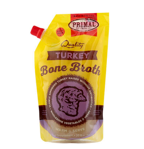 Primal Turkey Frozen Bone Broth, 20-oz