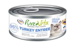 PureVita Grain-Free Turkey Entrée Wet Cat Food, 5.5-oz
