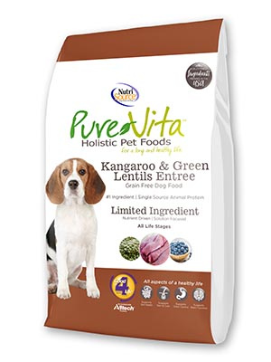 PureVita Grain-Free Kangaroo & Green Lentil Dry Dog Food, 25-lbs