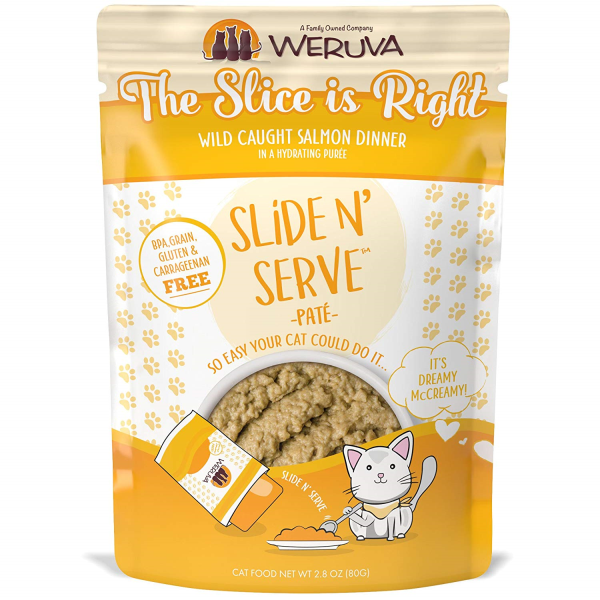 Weruva Cat Slide N' Serve Pate The Slice Is Right Salmon Wet CatFood Image