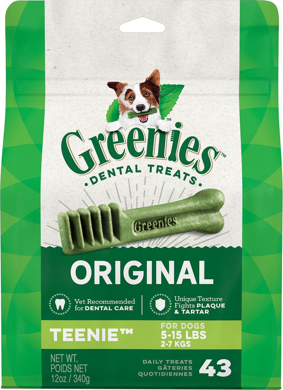 Greenies Original Teenie Dental Dog Treats, 43-count
