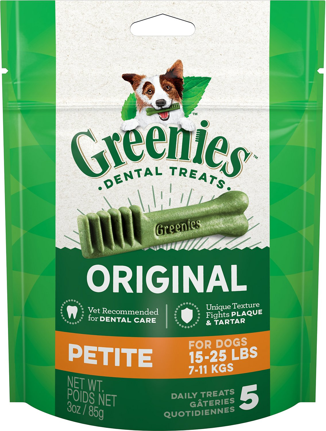 Greenies Original Petite Dental Dog Treats, 5-count