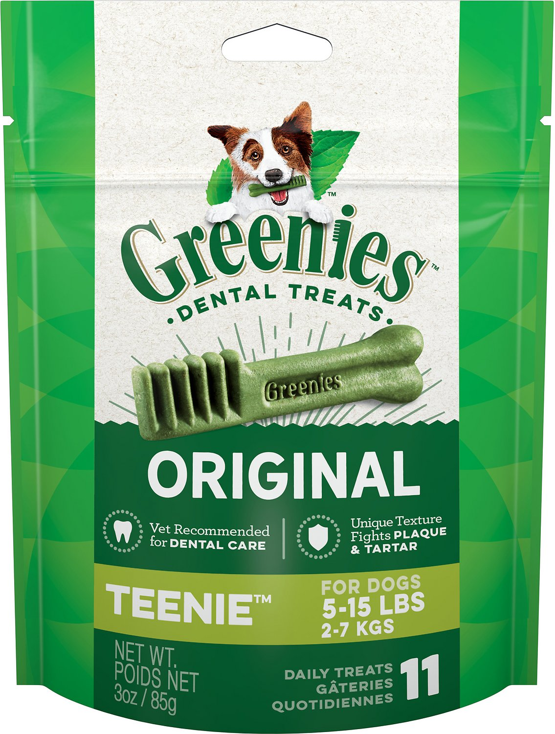 Greenies Original Teenie Dental Dog Treats, 11-count
