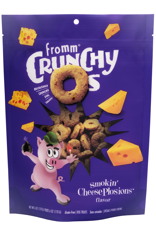 Fromm Crunchy O's Smokin' Cheeseplosions Dog Treats, 6-oz Size: 6-oz