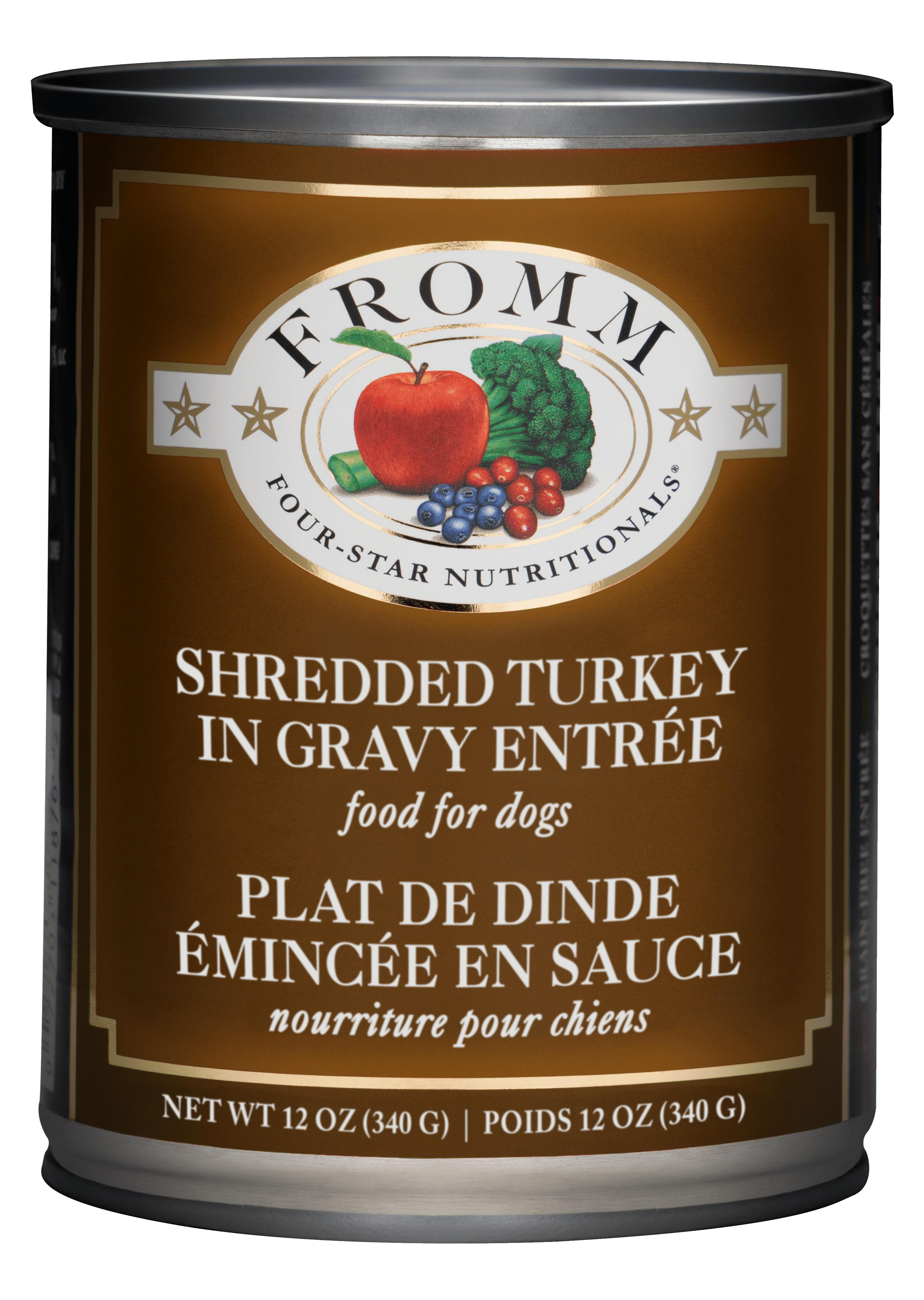 Fromm Four-Star Nutritonals Shredded Turkey in Gravy Entrée Canned Dog Food, 12-oz