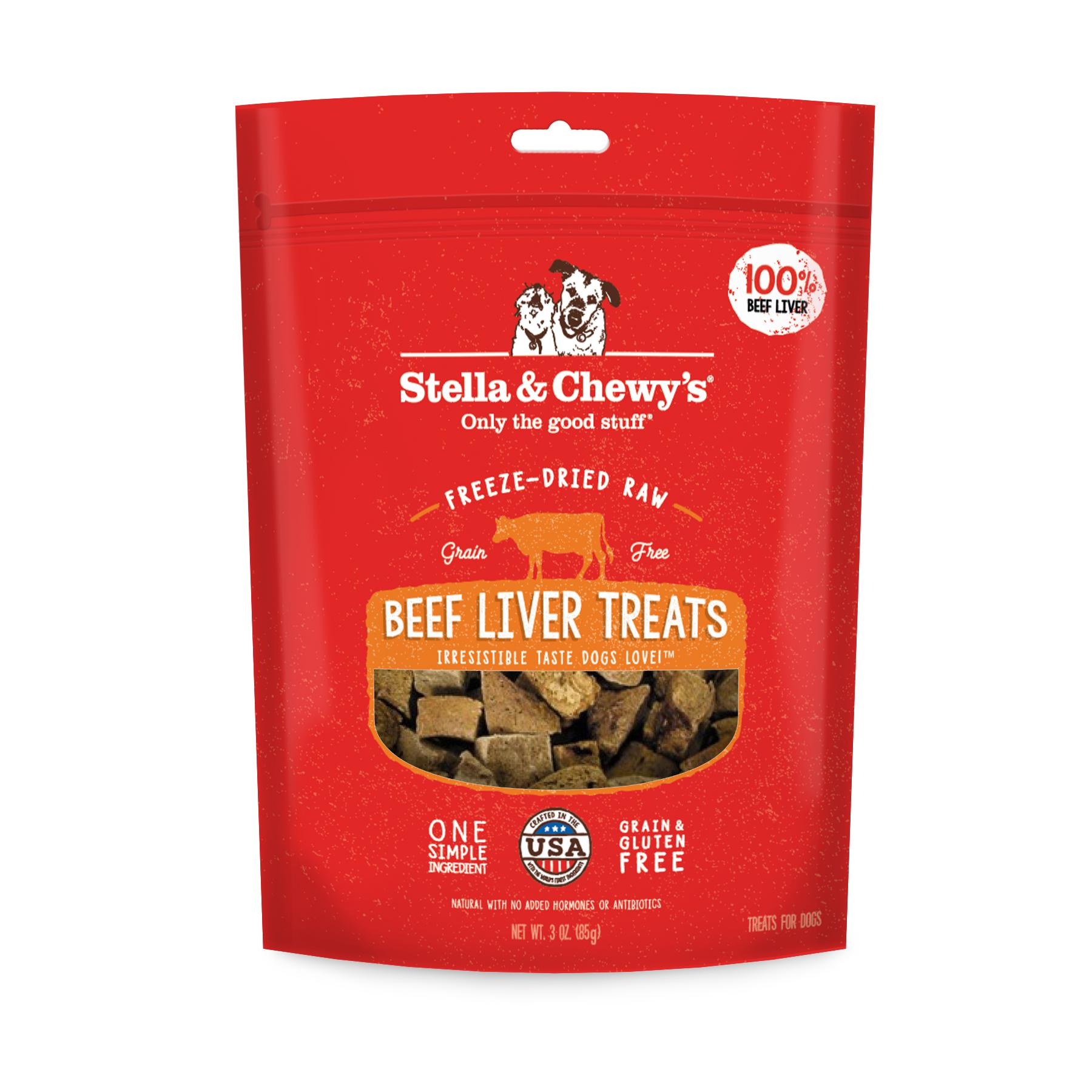 Stella & Chewy's Beef Liver Freeze-Dried Dog Treats, 3-oz (Size: 3-oz) Image