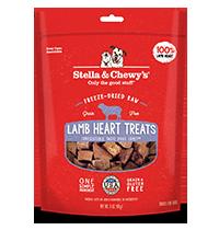 Stella & Chewy's Lamb Hearts Dog Treats, 3-oz