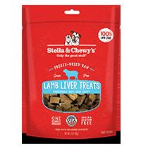 Stella & Chewy's Lamb Liver Dog Treats, 3-oz