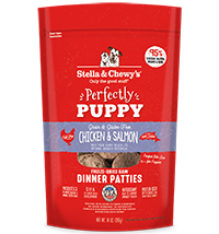 Stella & Chewy's Perfectly Puppy Chicken & Salmon Dinner Patties Freeze-Dried Raw Dog Food, 14-oz