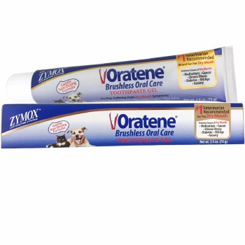 Oratene Brushless Enzymatic Oral Care Therapy Dental Gel for Dogs & Cats, 2.5-oz
