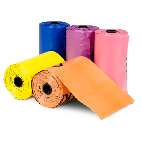 Bags on Board Bag Refill Pack, Rainbow, Case of 60 Rolls Image