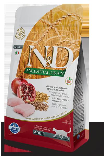 Farmina N&D Ancestral Grain Chicken & Pomegranate Dry Cat Food Image