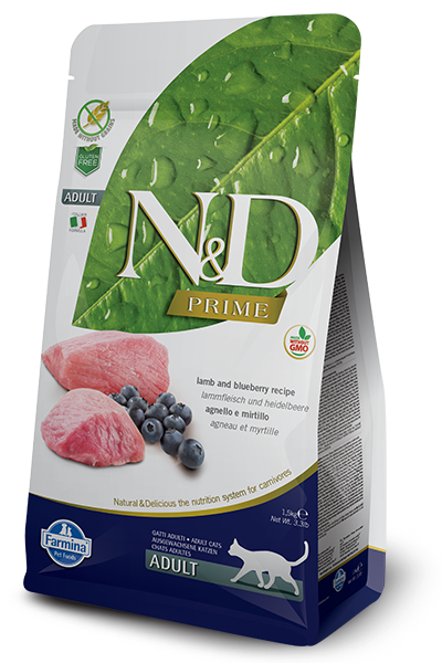 Farmina N&D Prime Lamb & Blueberry Dry Cat Food Image